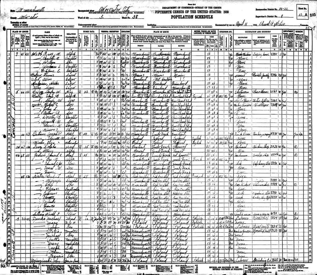 1930 Census Record for Michael Danko