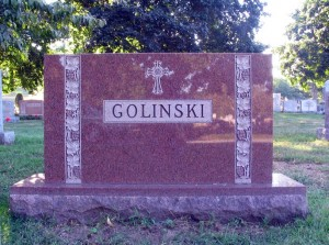 Monument for the Golinski Family - Obverse