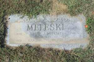 Burial Marker for Harry and Margaret Meleski