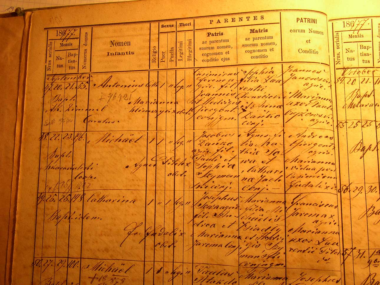 Baptismal Record from Galicia