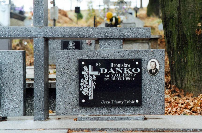 Grave of Bronisław Dańko in Dubiecko