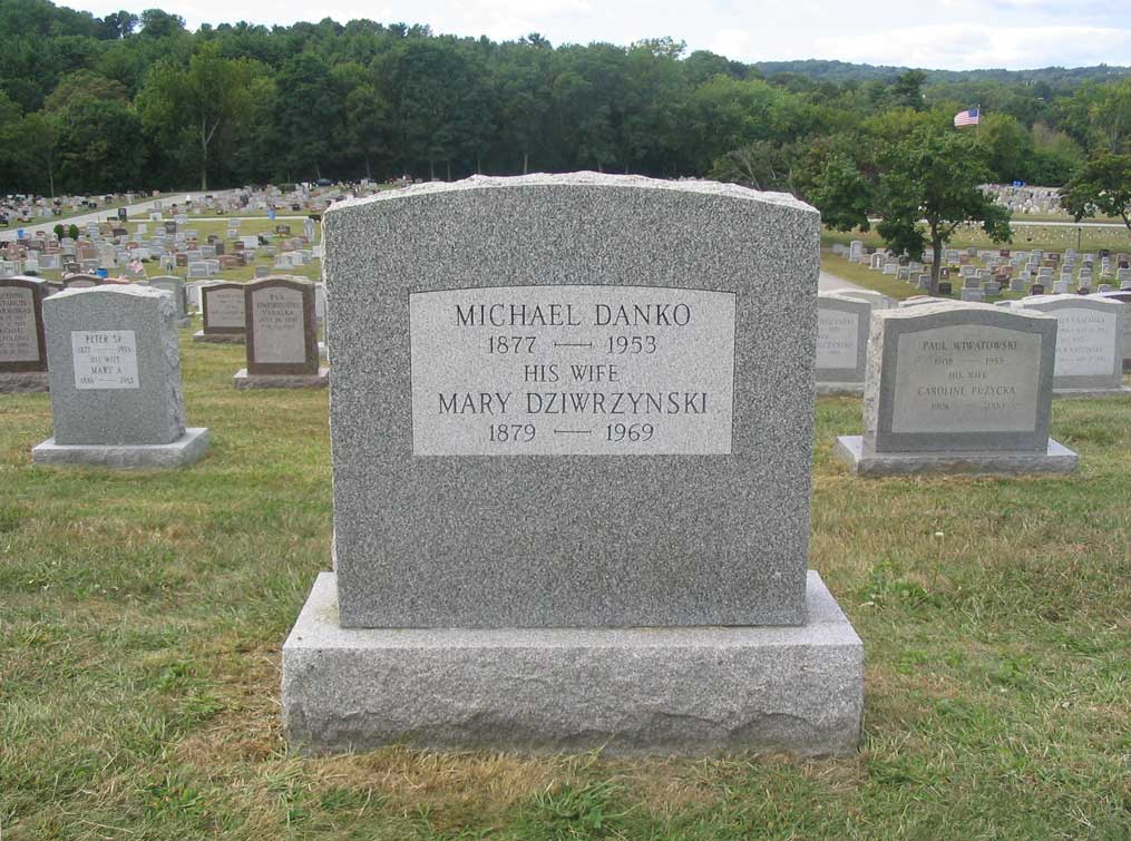 Monument for Michael Danko and Marianna Dziurzynska - Reverse