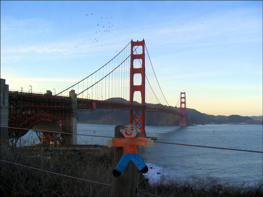 Flat Stanley Golden Gate Bridge