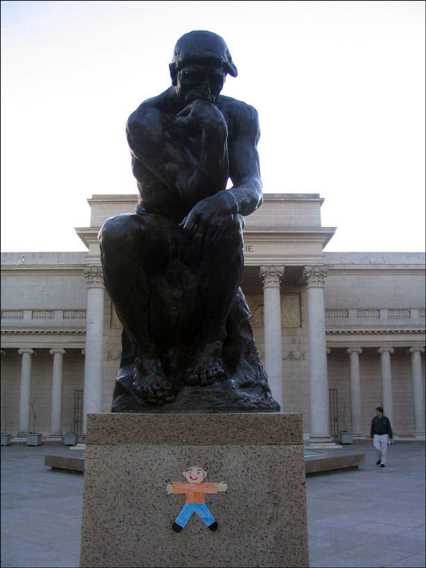 Flat Stanley The Thinker
