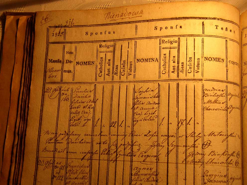 Danko-Szymanska Marriage Record