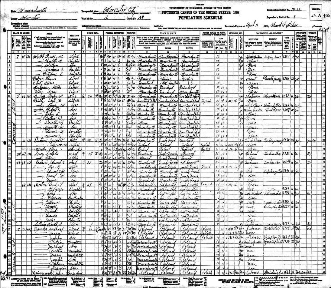 1930 Census Danko
