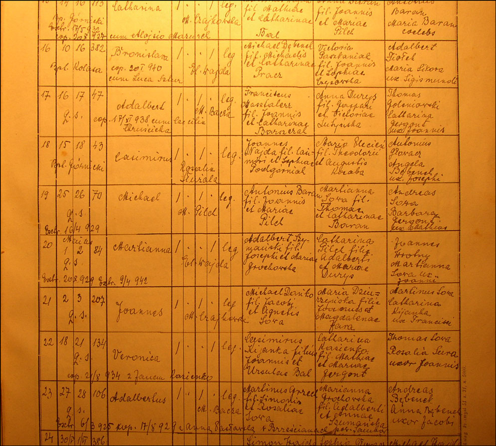 Baptismal Record for Jan Danko