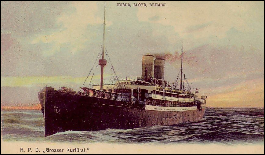 Postcard from the S.S. Grosser Kurfurst