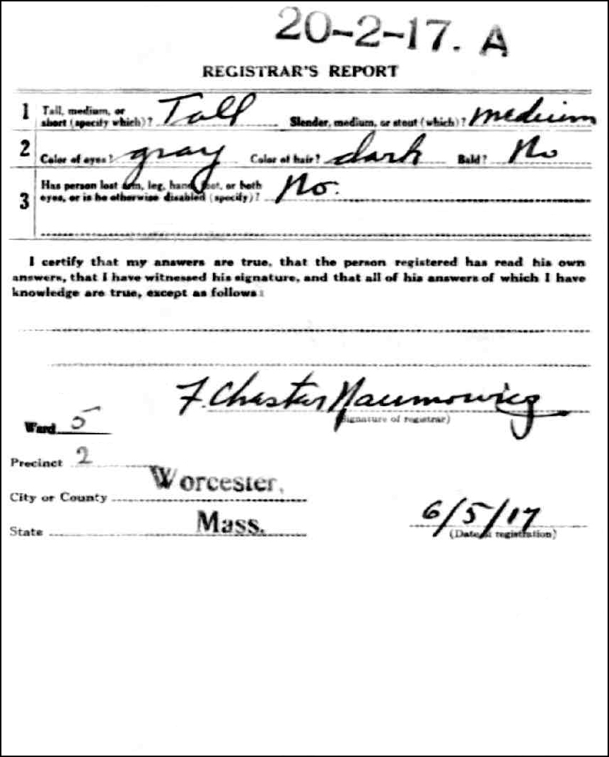 Alexander Skowronski WWI Reverse