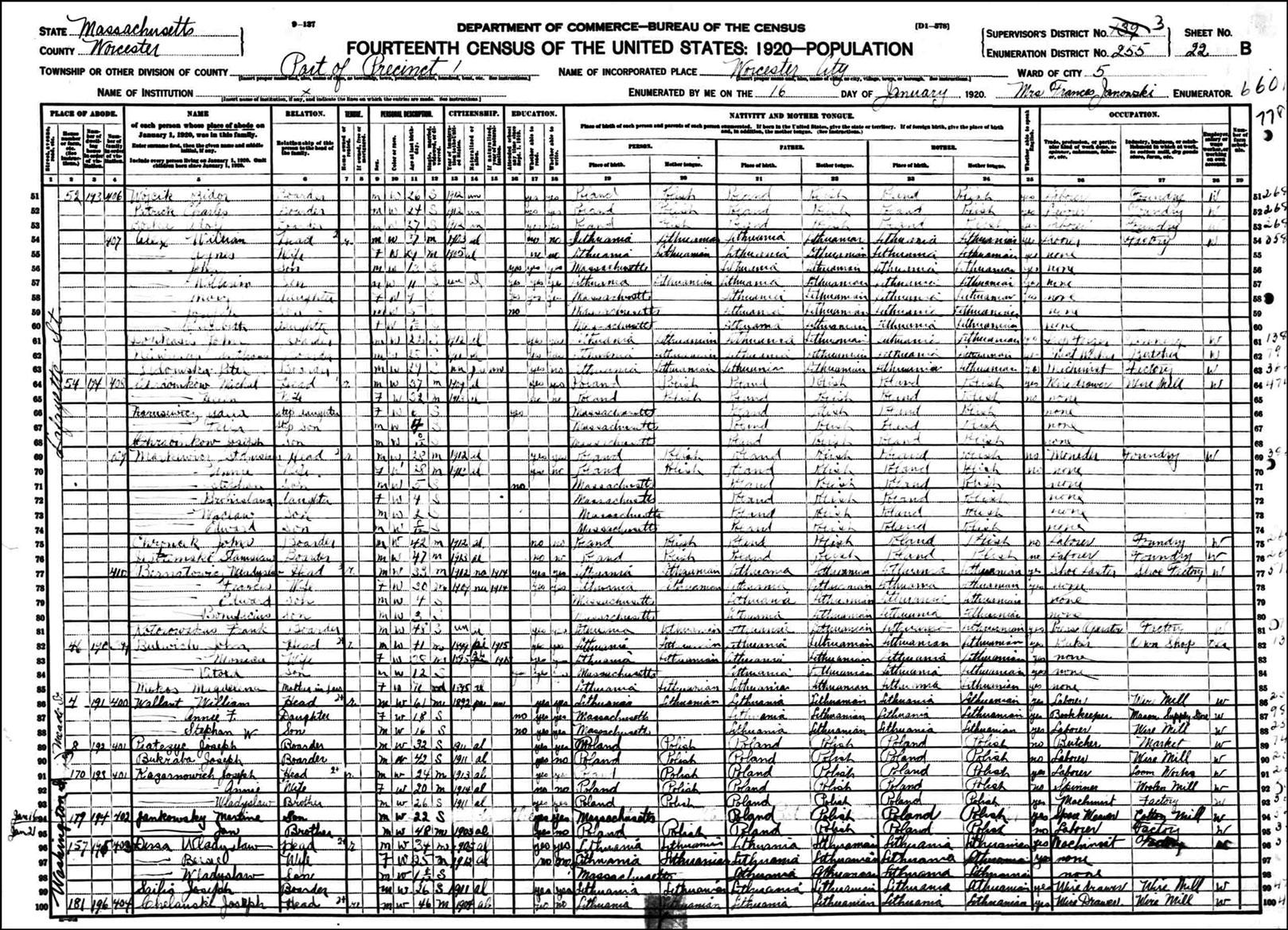 1920 Census Markiewicz