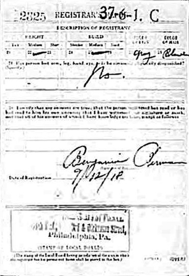 WWI Isaac Srvetnick B