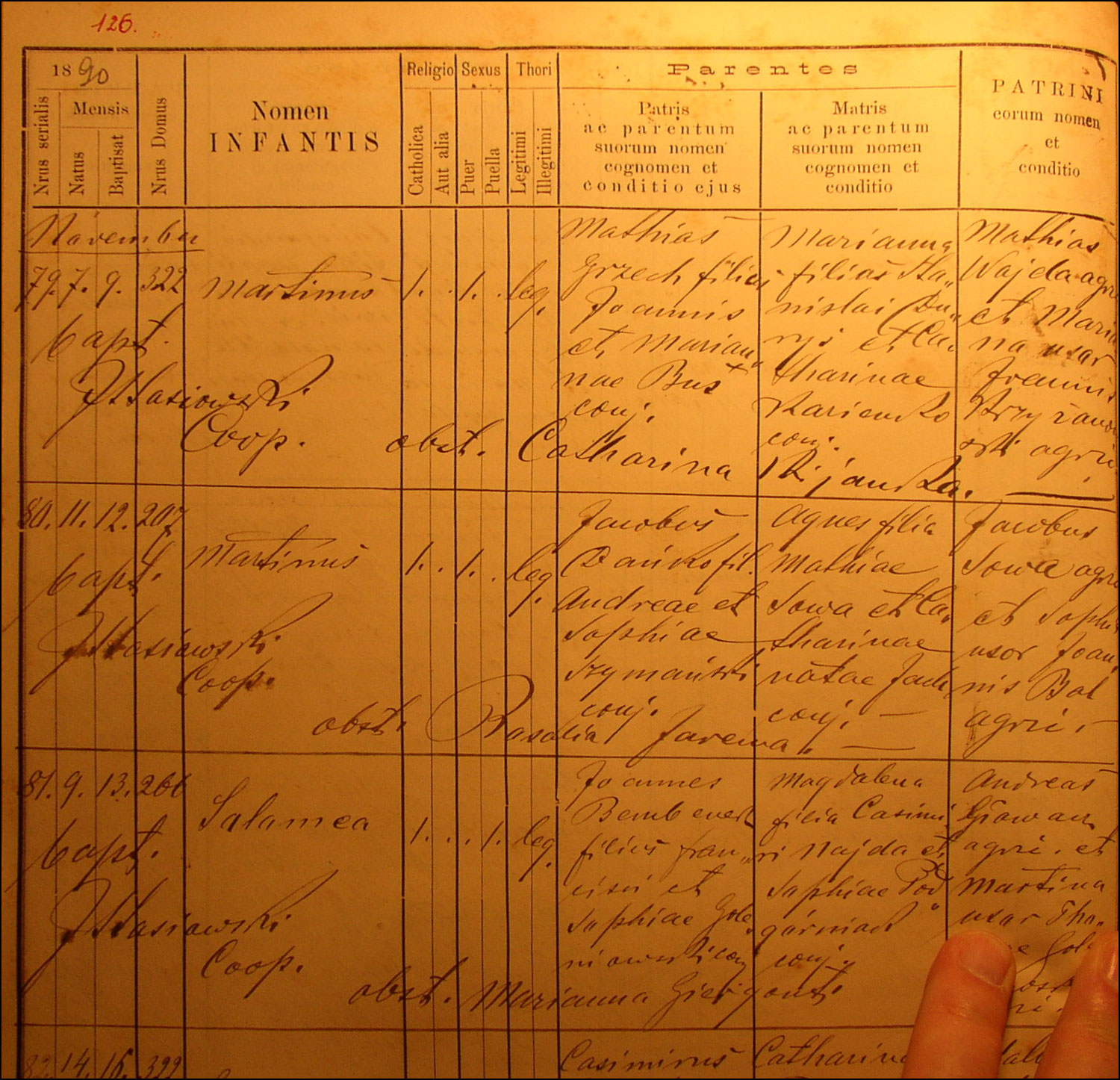 Birth and Baptismal Record for Marcin Danko