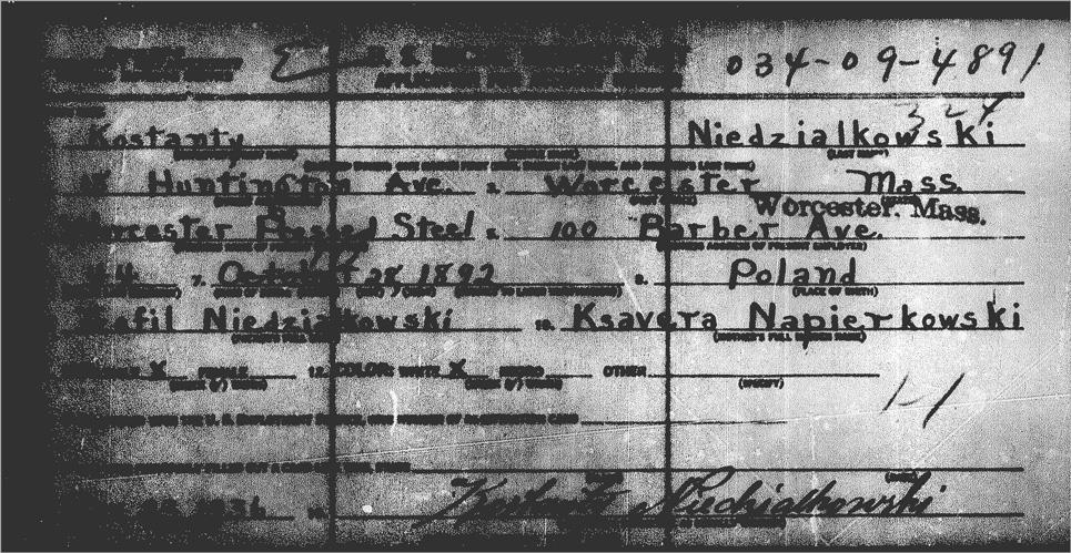 SS-5 for Kostanty Niedzialkowski