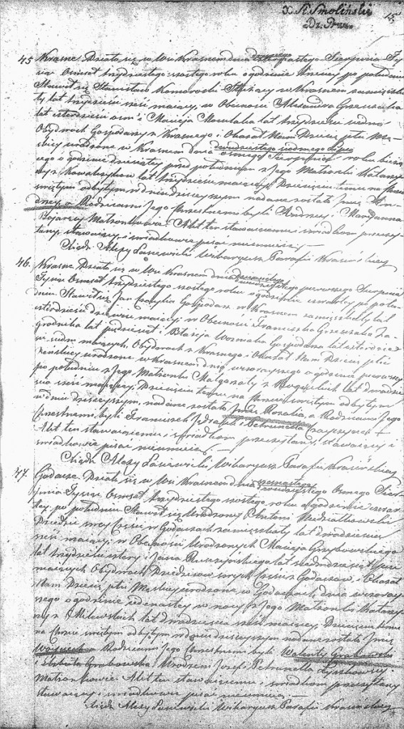 The Birth and Baptismal Record of Wojciech Niedziałkowski -1836
