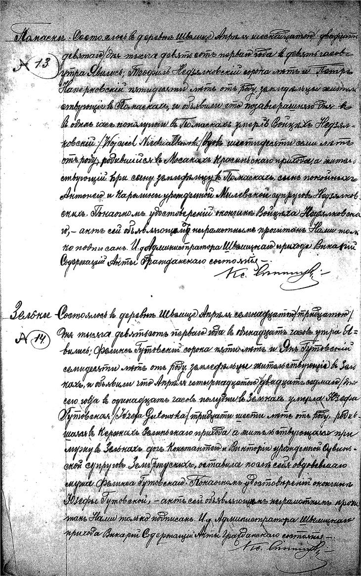 Death Record for Wojciech Niedzialkowski