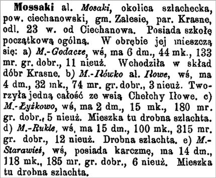 Slownik Entry for Mossaki