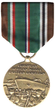 The European-African-Middle Eastern Campaign Medal - Obverse