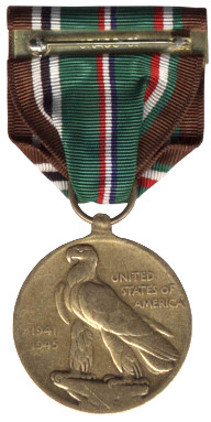 The European-African-Middle Eastern Campaign Medal - Reverse