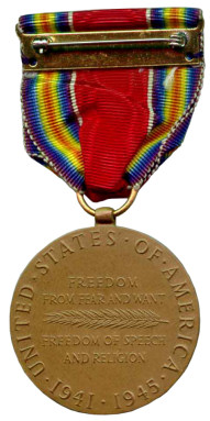 The World War II Victory Medal - Reverse