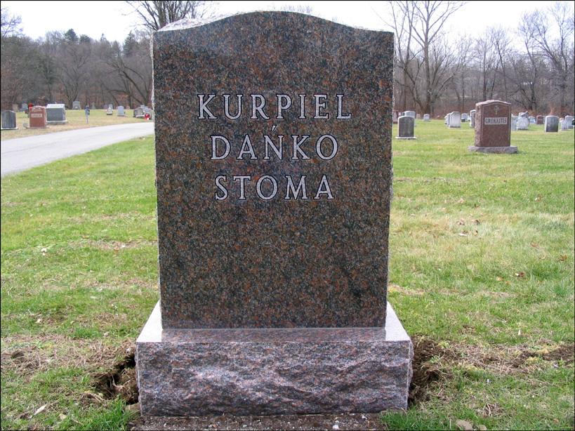 BronisÅ?awa's Grave - Back