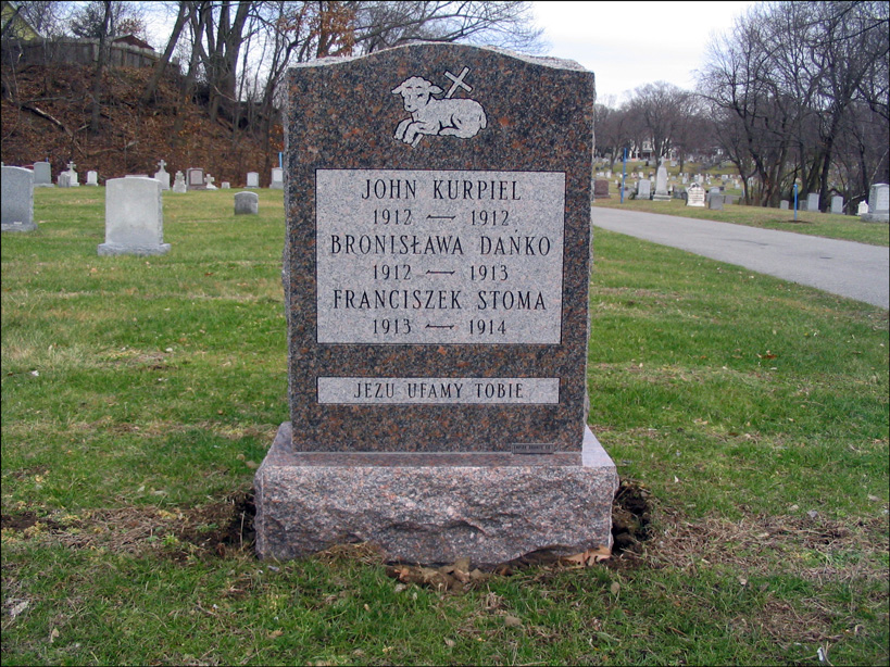 BronisÅ?awa's Grave - Front
