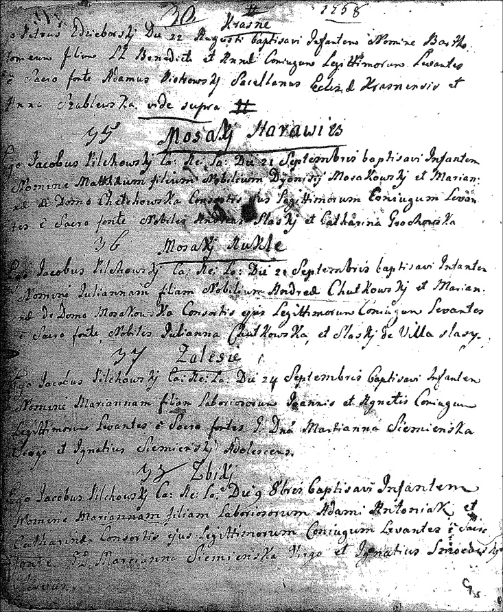 Birth Record for Julianna Chotkowska