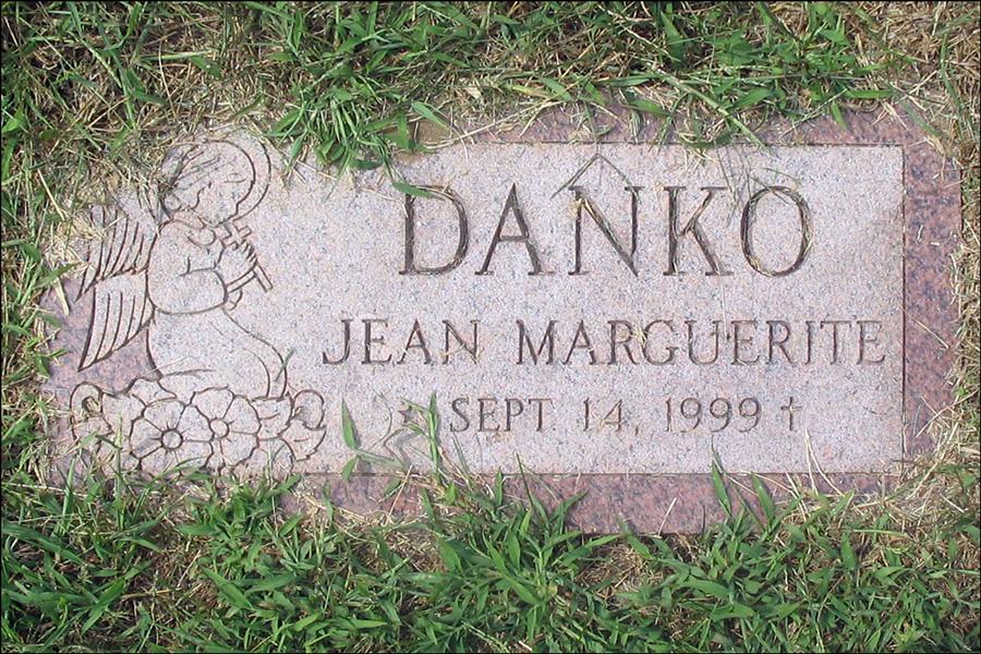 Grave Marker for Jean Marguerite Danko