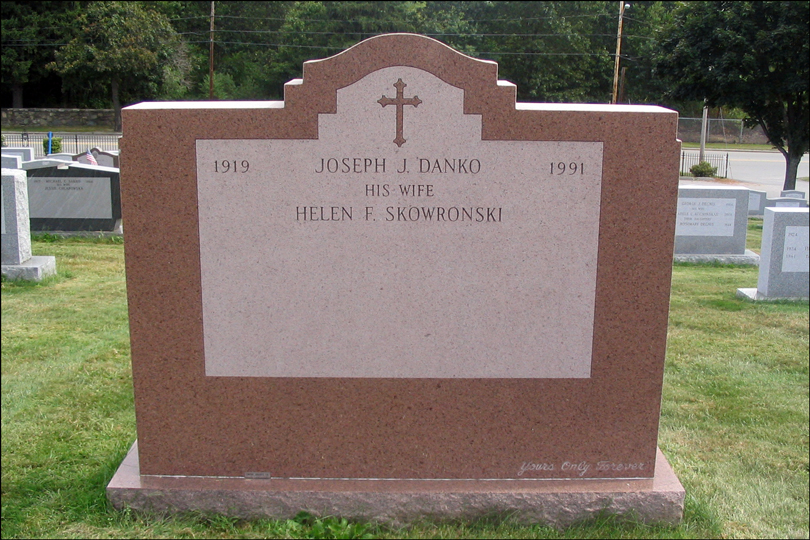 Monument for Joseph J. Danko - Reverse