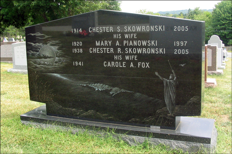 The Monument for Chester S. Skowronski, Mary A. Pianowski, and Chester R. Skowronski - Reverse
