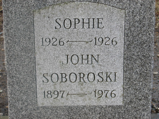 The Monument for Sophie Skowronski and John Soboroski - Reverse