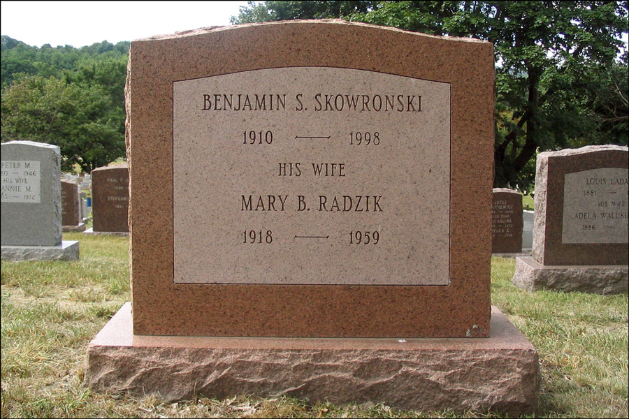 The Monument for Mary B Radzik Skowronski - Back