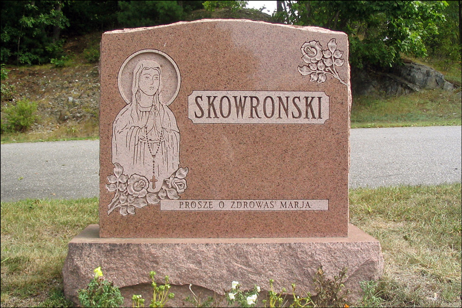 The Monument for Mary B Radzik Skowronski - Front