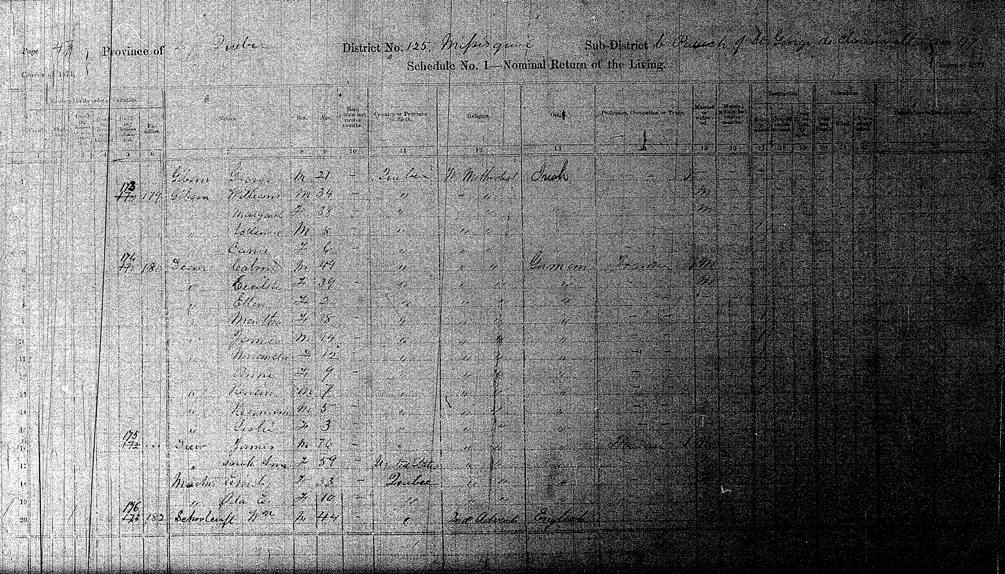 Gibson Families in the 1871 Census - Page 47