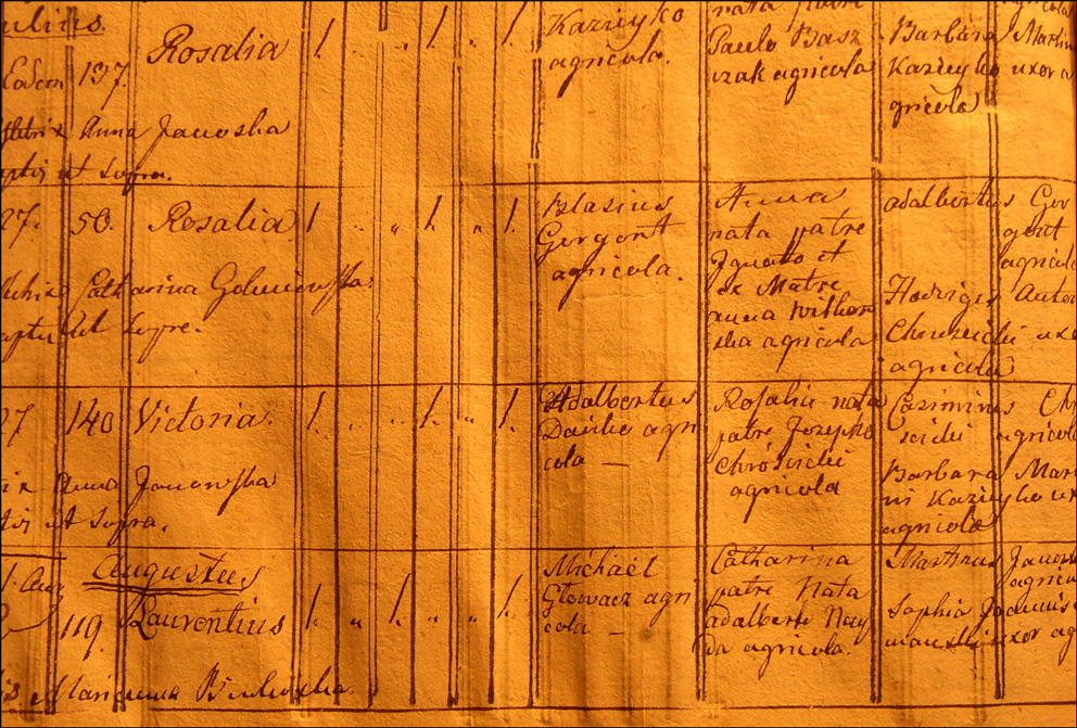 Birth and Baptismal Record of Wiktoria Danko - 1830
