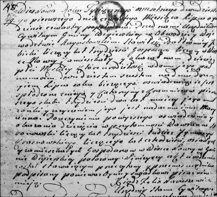 Birth and Baptismal Record for Maryanna Izbicki