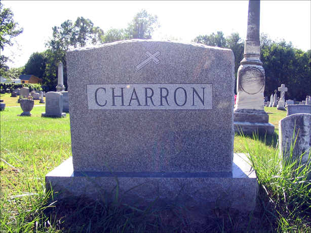 The Grave of Paul Charron and Zenaide Patenaude - Front