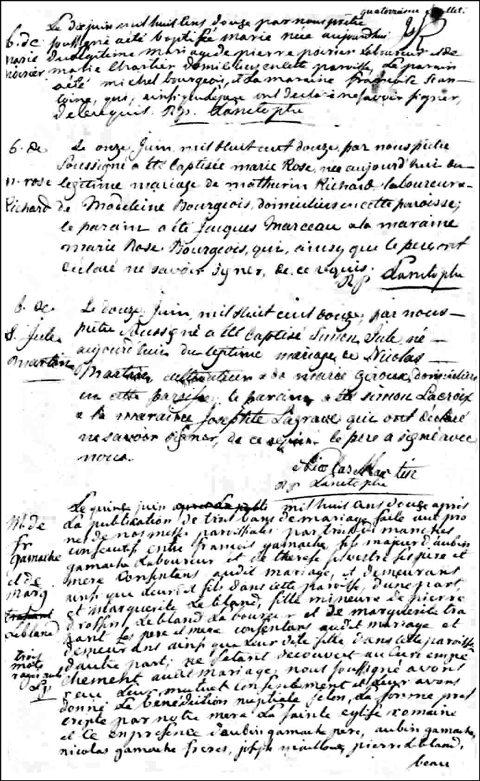 The Birth and Baptismal Record of Simon Jules Martin -1812