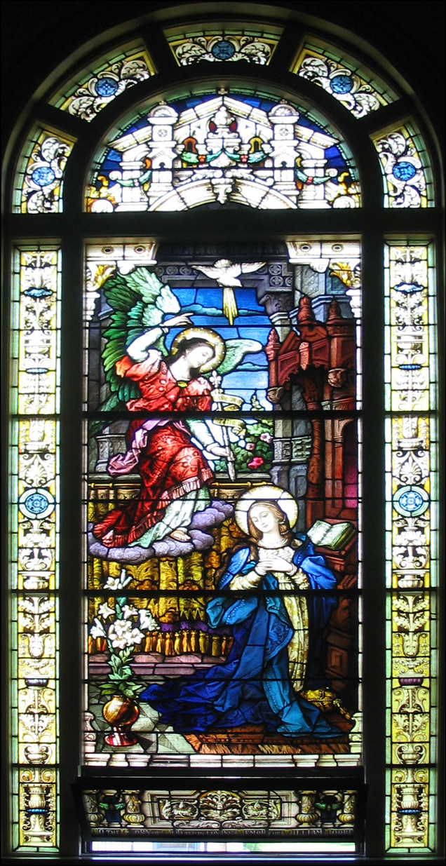 The Annunciation - Stained Glass Window from the Church of St. Vincent de Paul, Albany, NY