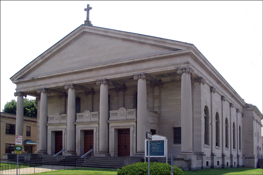 Exterior of the Church of Saint Vincent de Paul in Albany New York - 2007