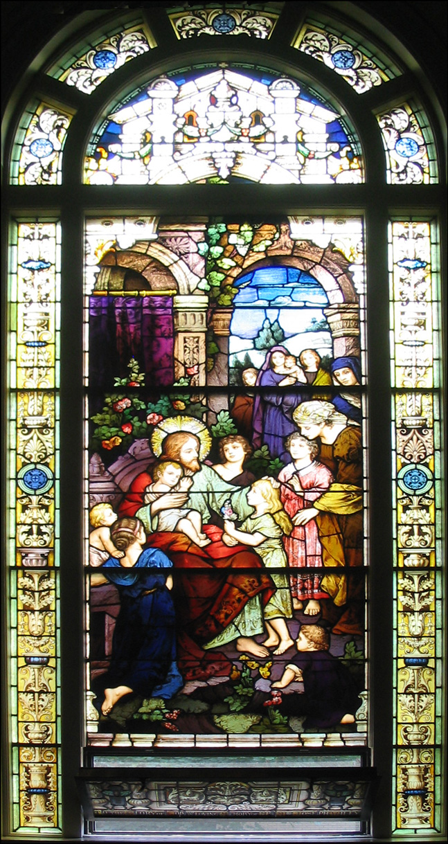 Jesus Blessing the Children - Stained Glass - Church of St. Vincent de Paul - Albany, New York