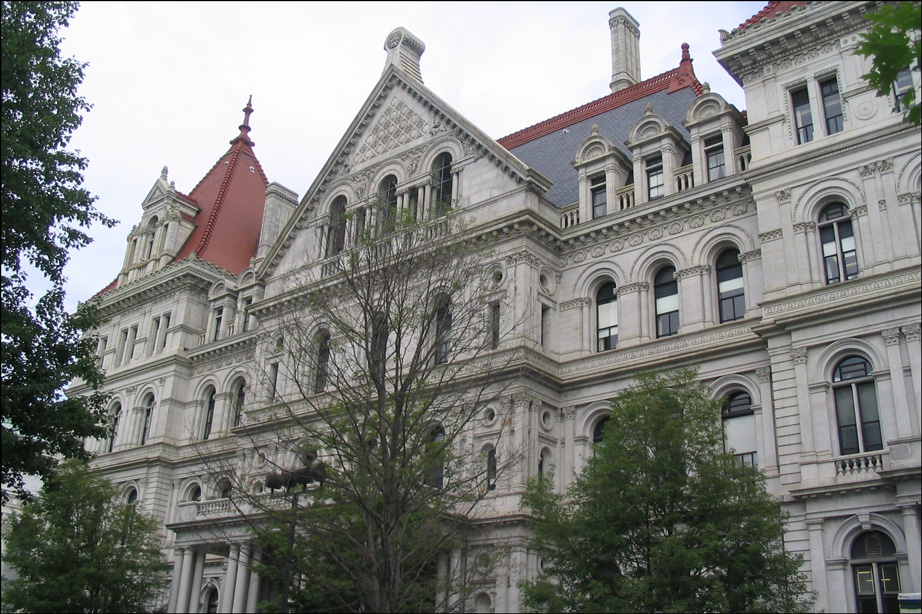The New York State Capitol in Albany New York