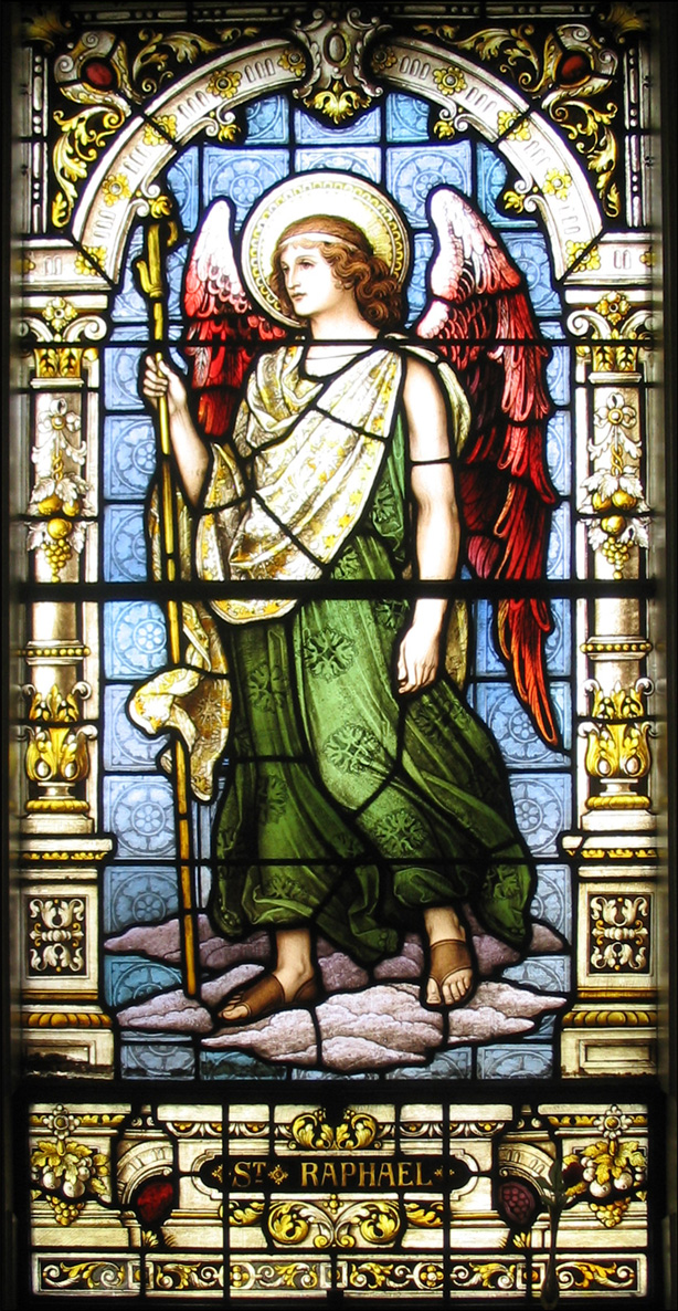 The Angel Raphael - Stained Glass - Church of Saint Vincent de Paul Albany New York