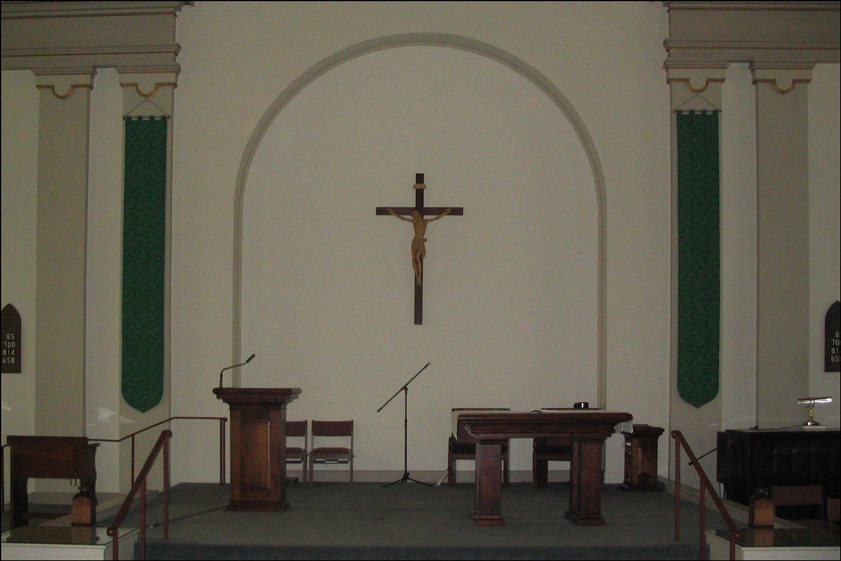 Altar of the Church of Saint Vincent de Paul in Albany New York - 2007