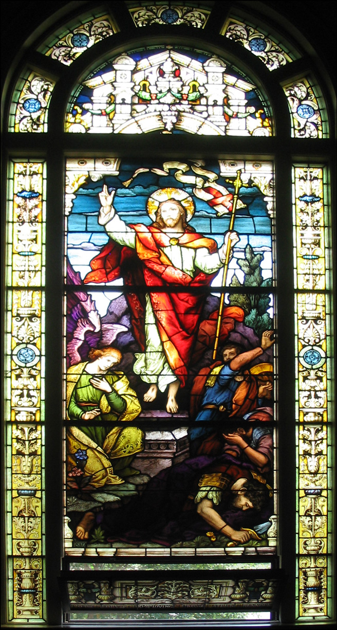 The Resurrection - Stained Glass - Church of St Vincent de Paul - Albany New York