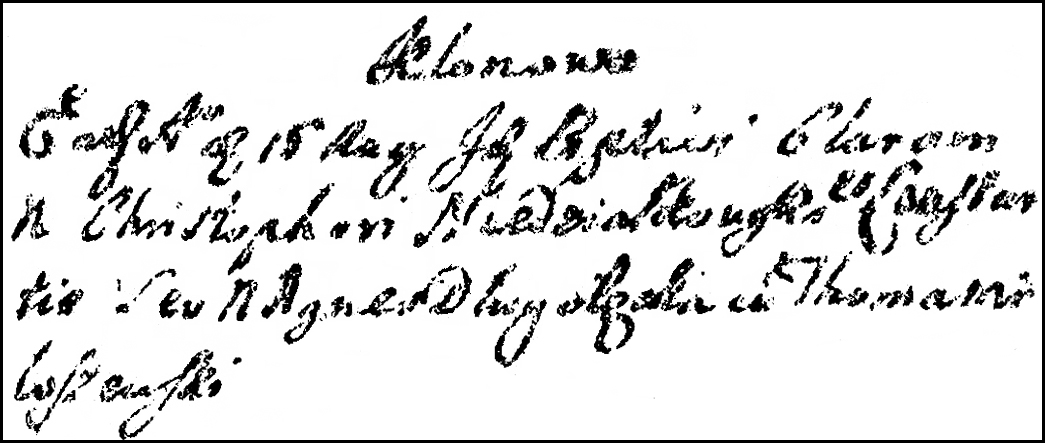 The Birth and Baptismal Record of Klara Niedziałkowska - 1727