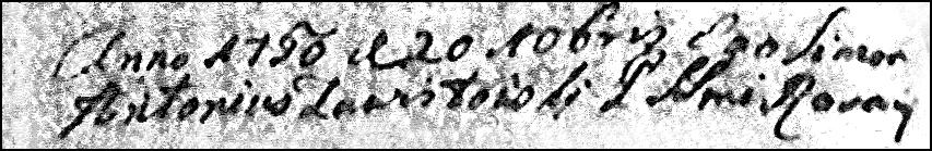 Date of Baptism of Tomasz Niedzialkowski