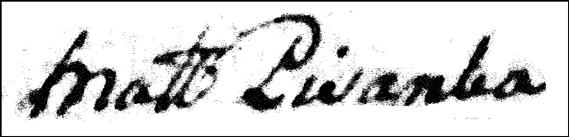 The Baptismal Record of Jozefata Obidzienska - 1868 - Priest