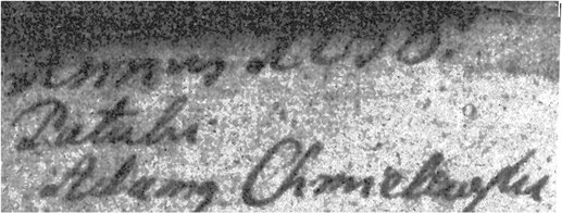Details of The Baptismal Record of Agnieszka Obidzienska - 1756