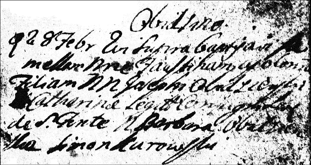 The Baptismal Record of Faustina Apolonia Obidzienska - 1762