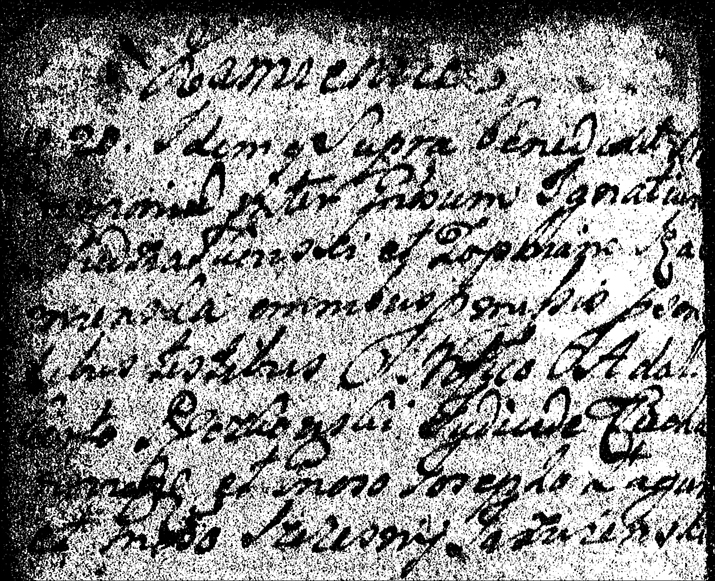 Marriage Record of Ignace Niedzia�kowski and Zofia Szami�ska - 1746